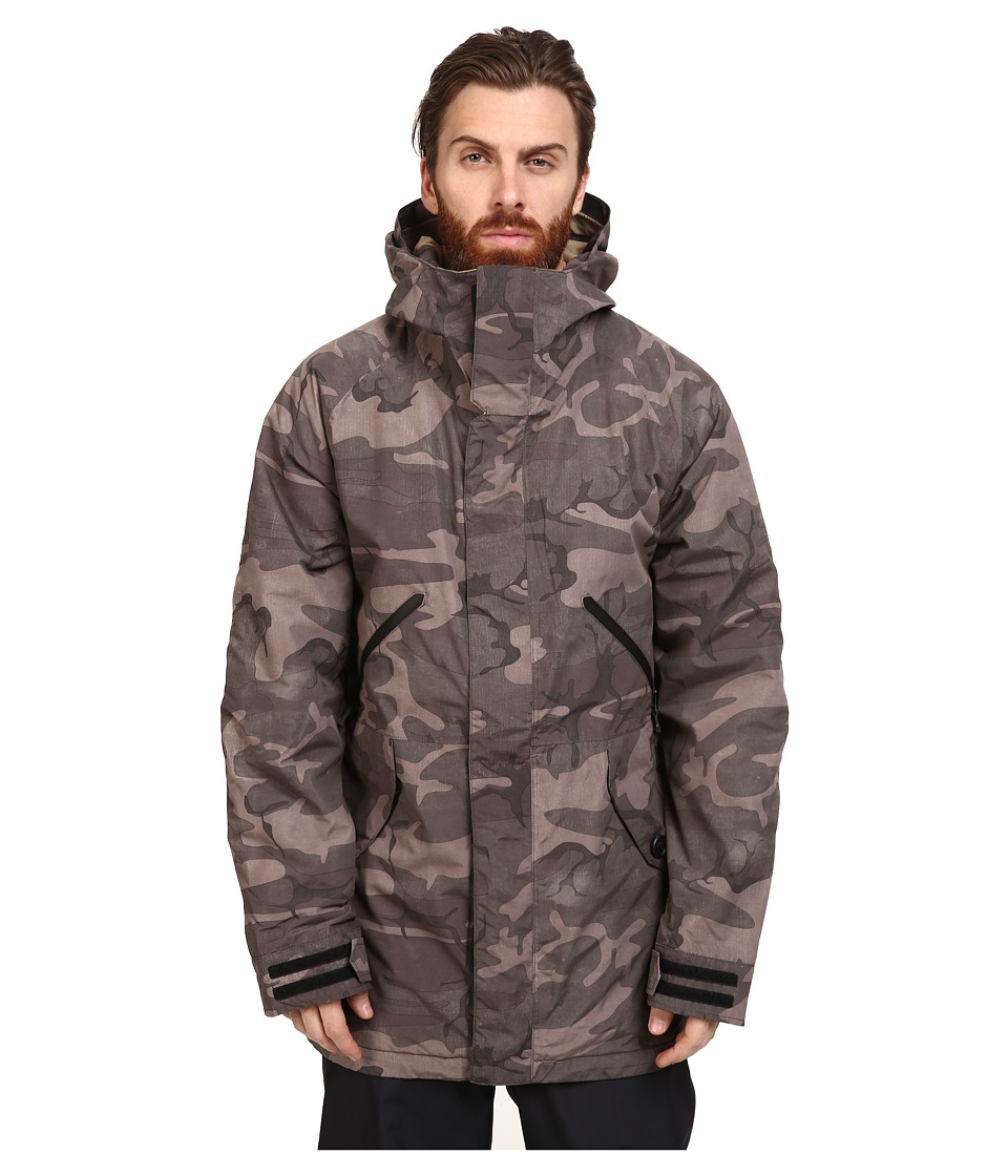 Burton - Breach Jacket 15 (Black Camo/Kelp) Men's Coat