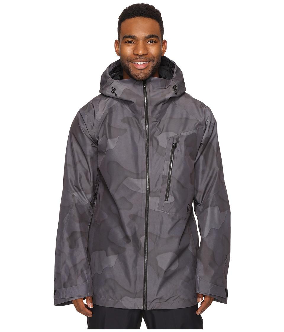 Burton - [ak] 2L Cyclic Jacket (True Black Hombre Camo) Men's Coat