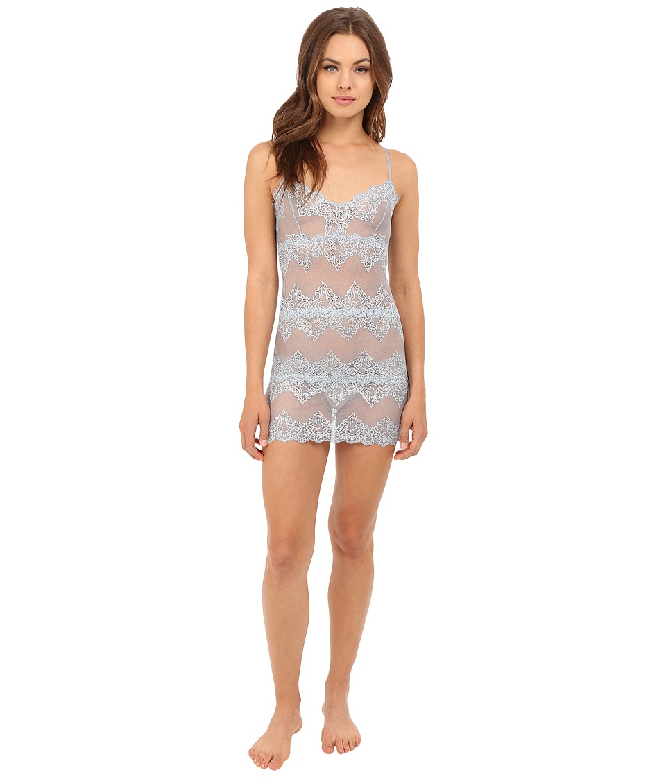 Only Hearts - So Fine Lace Chemette (Silver/Blue) Women's Lingerie