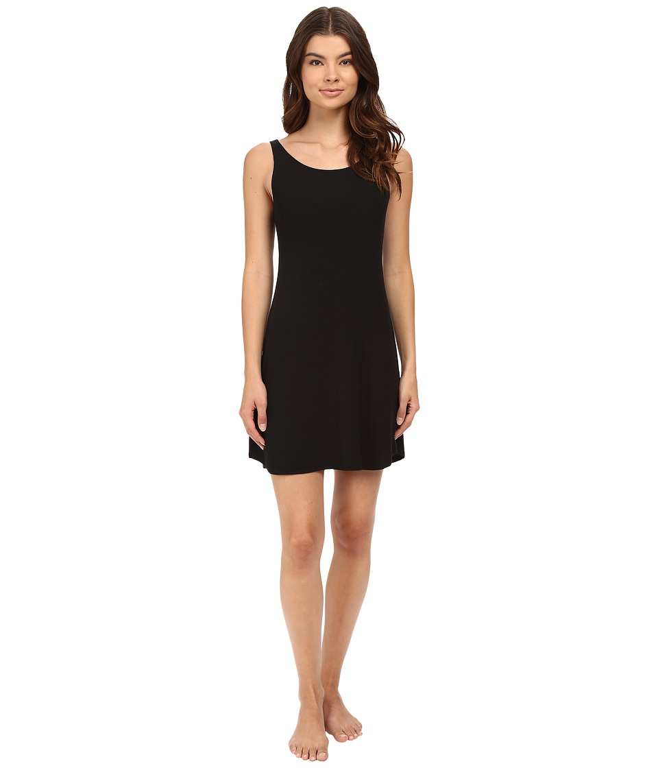 Only Hearts - Feather Weight Rib Tank Chemise (Black) Women's Pajama