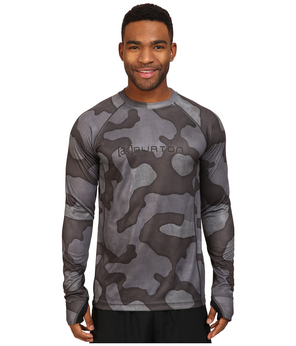 Burton - AK Power Grid Crew (True Black Hombre Camo) Men's Clothing