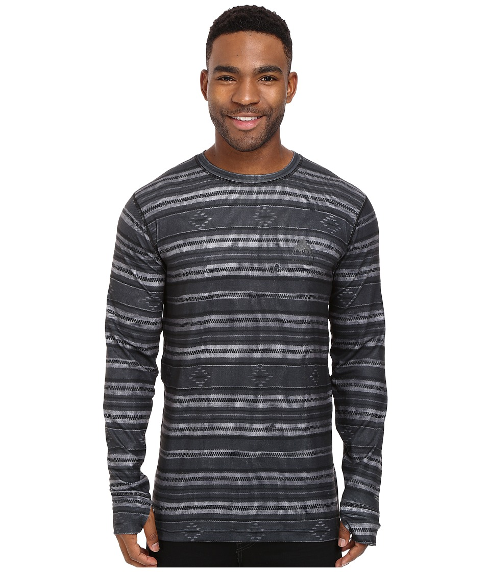 Burton - Midweight Crew (Faded Stag Stripe) Men's Long Sleeve Pullover