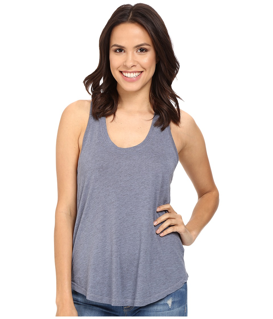 Splendid - Very Light Jersey Racerback Tank (Smokey Blue) Women's Sleeveless