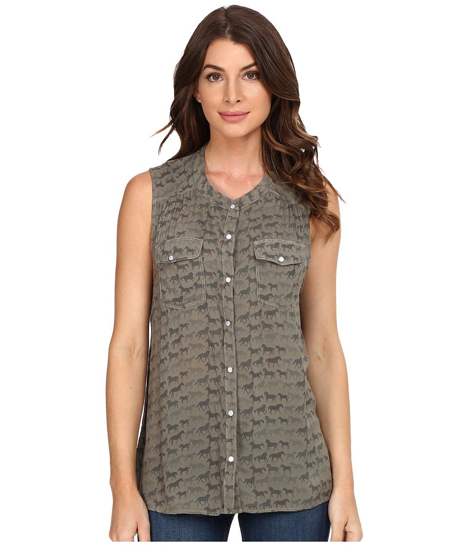 Splendid - Wild Horses Tank Top (Military Olive) Women's Sleeveless