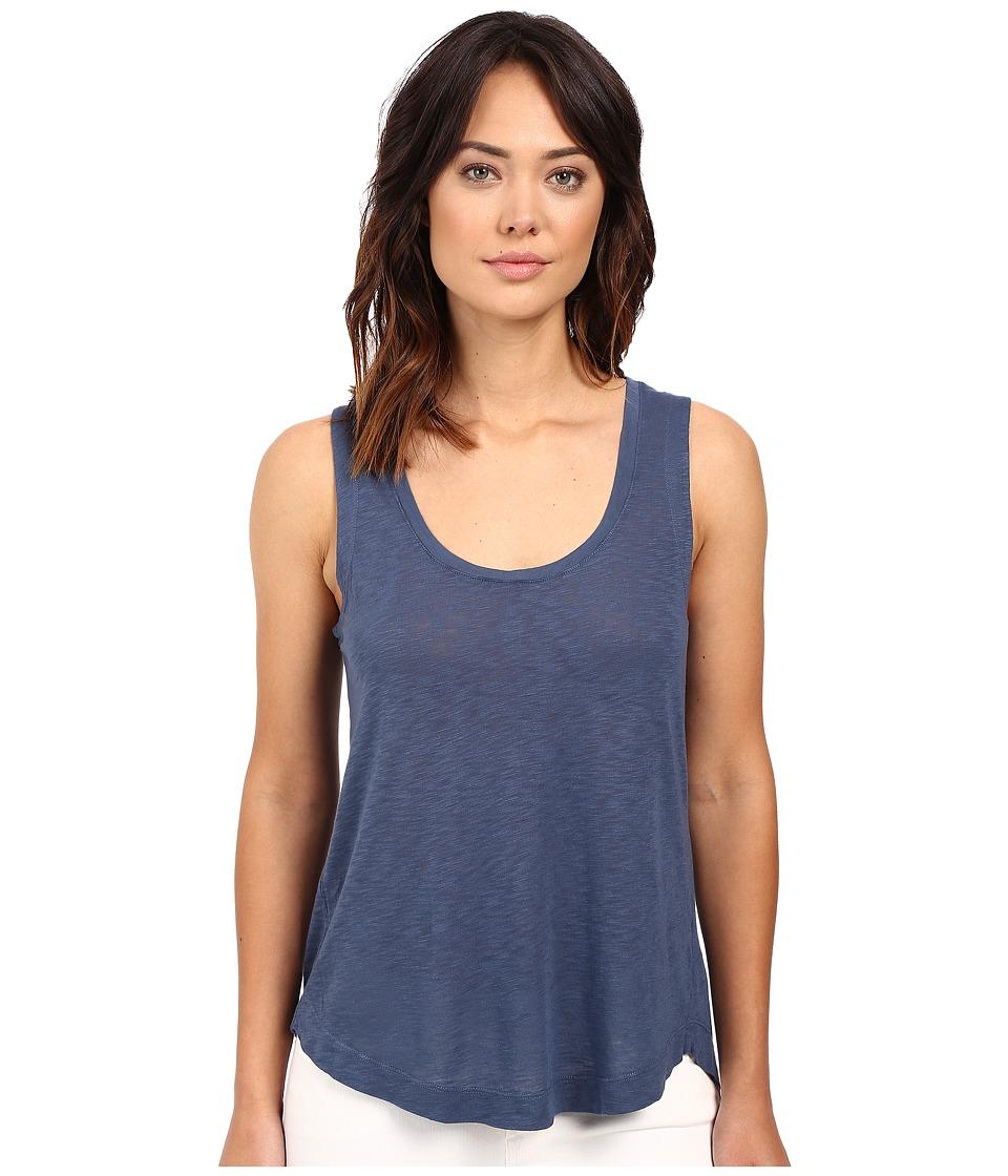Splendid - Slub Jersey Split Back Tank Top (Blue Shadow) Women's Sleeveless