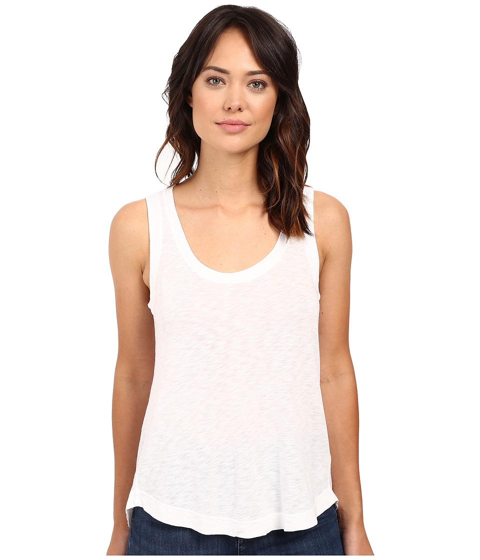 Splendid - Slub Jersey Split Back Tank Top (White) Women's Sleeveless