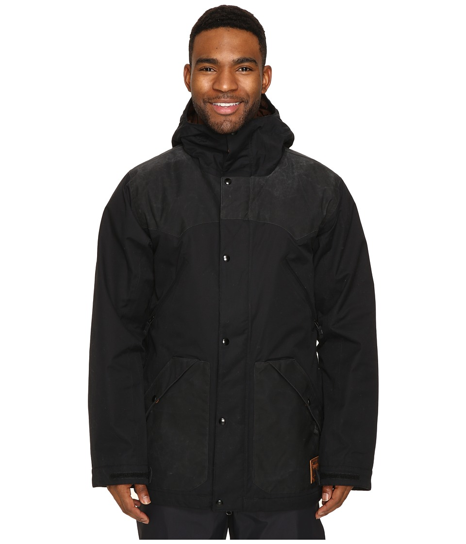 Burton - Folsom Jacket (True Black Wax/True Black) Men's Coat