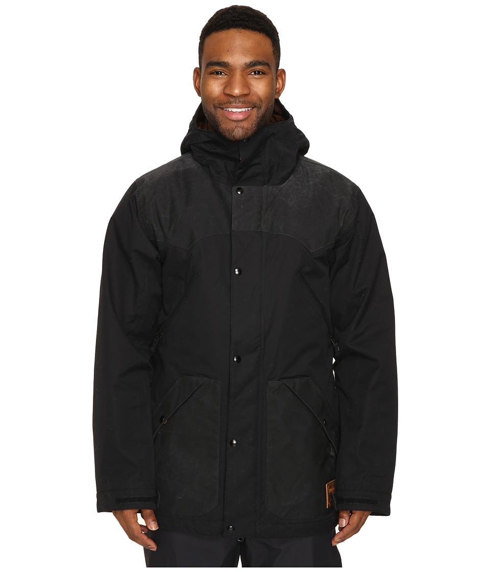 Burton - Folsom Jacket (True Black Wax/True Black) Men's Coat