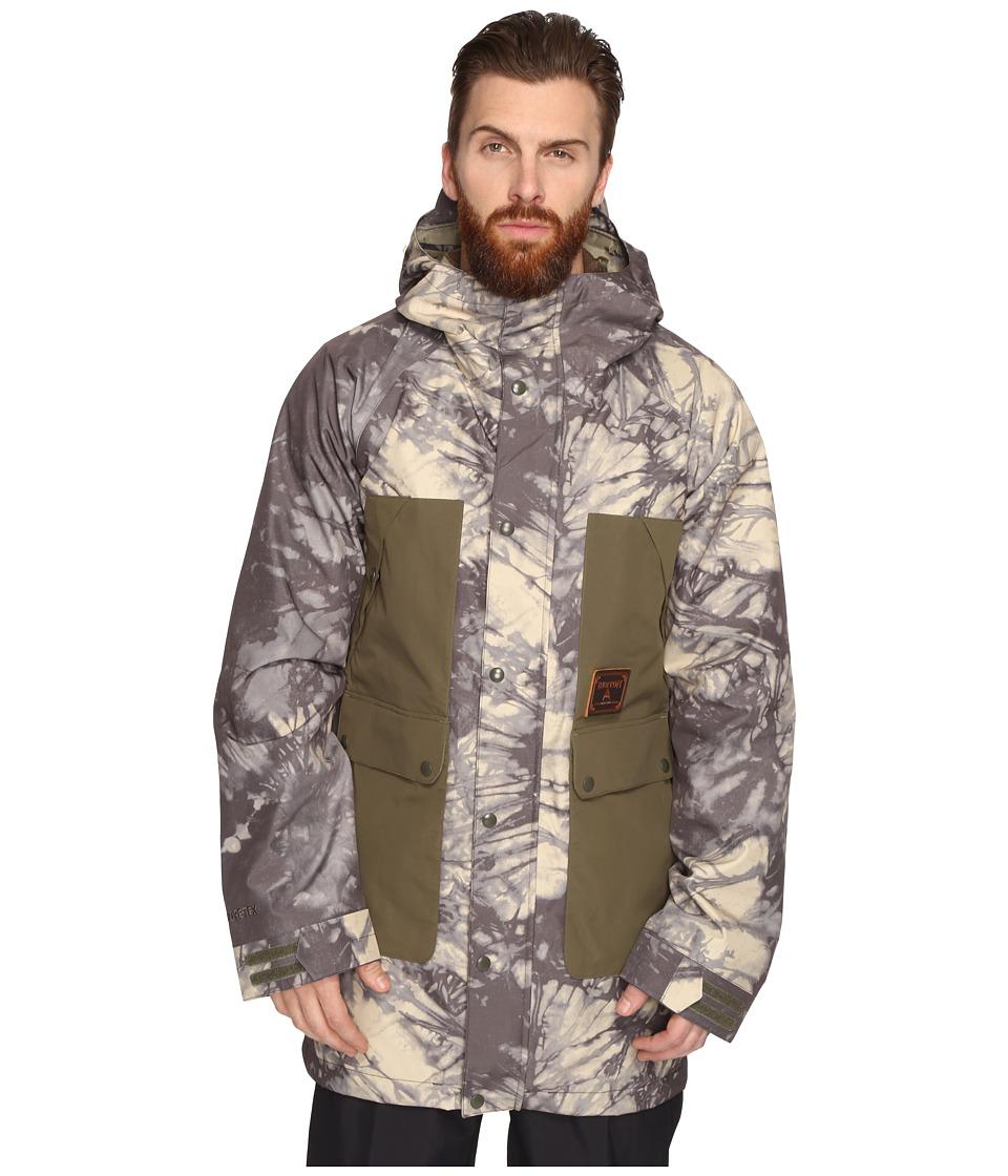 Burton GORE-TEX(r) Vagabond Jacket (Tie-Dye Trench/Keef) ...