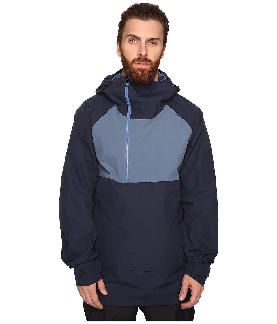 Burton - [ak] 2L Velocity Anorak Jacket (Eclipse/Washed Blue) Men's Coat