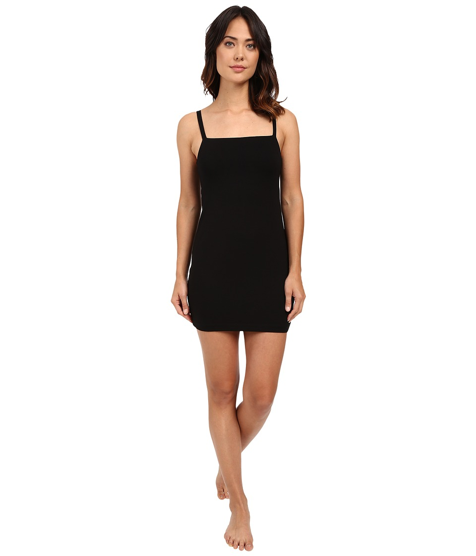 Only Hearts - Picnic Club Square Neck Slip Dress (Black) Women's Pajama