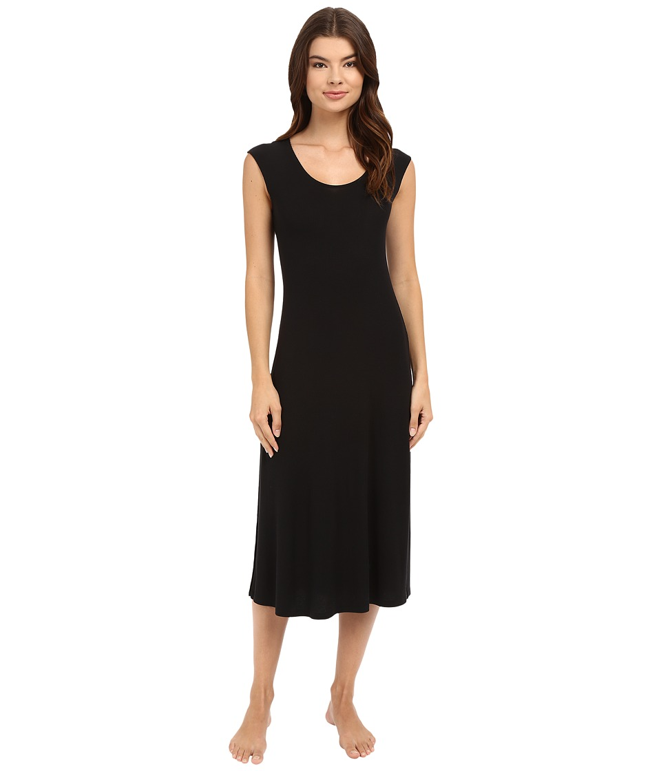 Only Hearts - Feather Weight Rib Tee Dress (Black) Women's Pajama