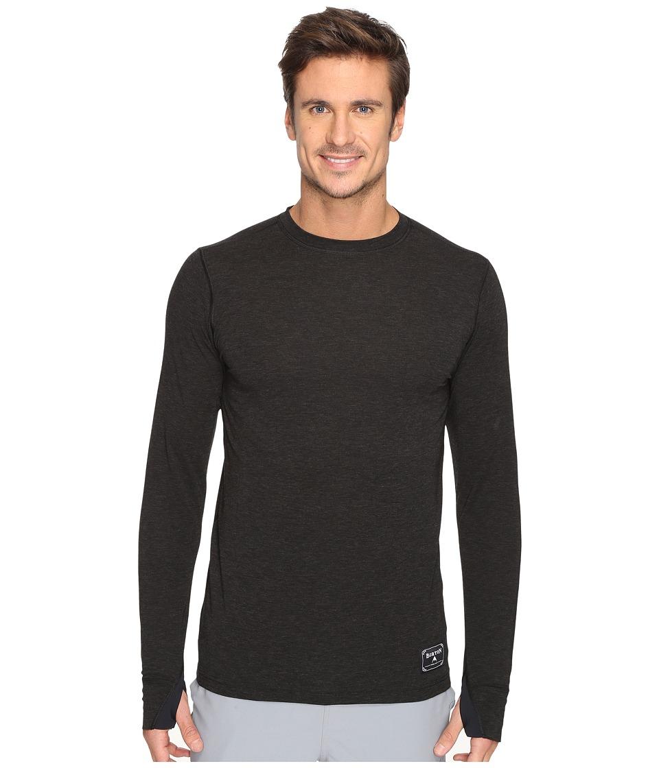 Burton - Midweight Wool Crew (Black Heather) Men's Clothing