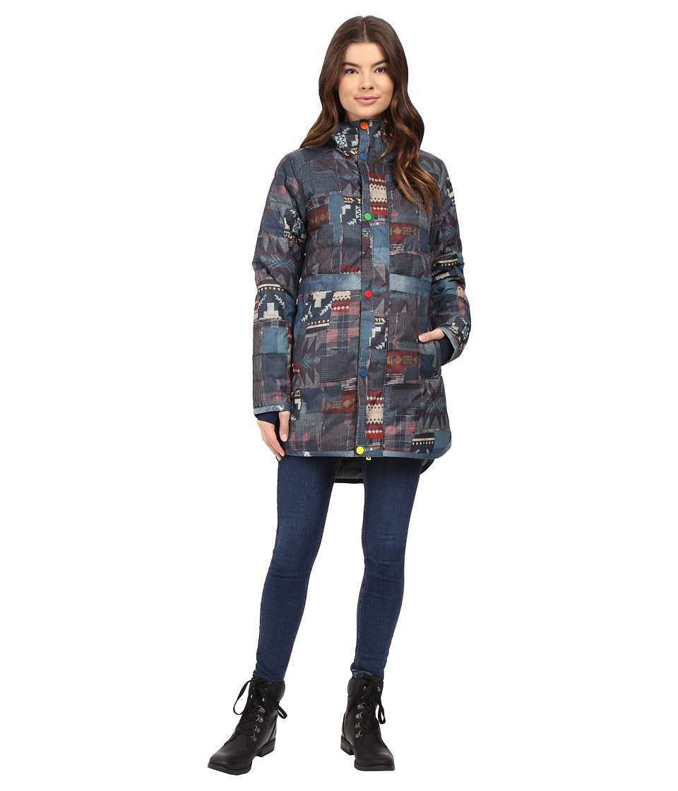 Burton - L.A.M.B. x Burton Alice Insulator Jacket (Patchwork/Denim Print) Women's Coat