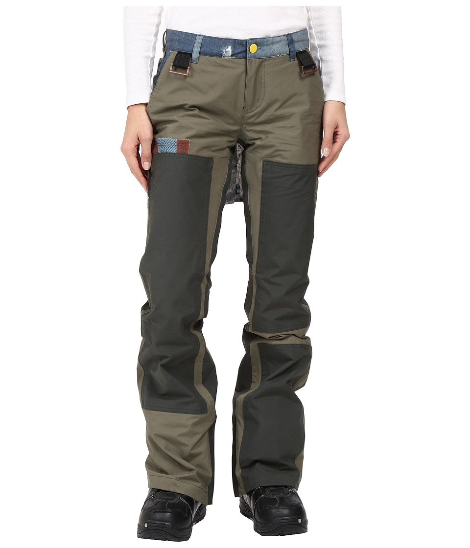 Burton - L.A.M.B. x Burton Johnny Pants (Dusty Olive/Army Green) Women's Casual Pants
