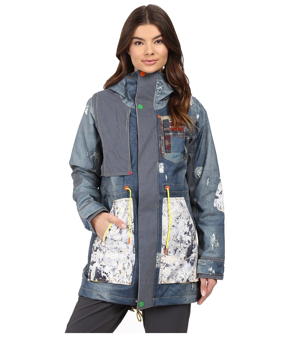 Burton - Lamb Riff Parka (Denim Print) Women's Coat