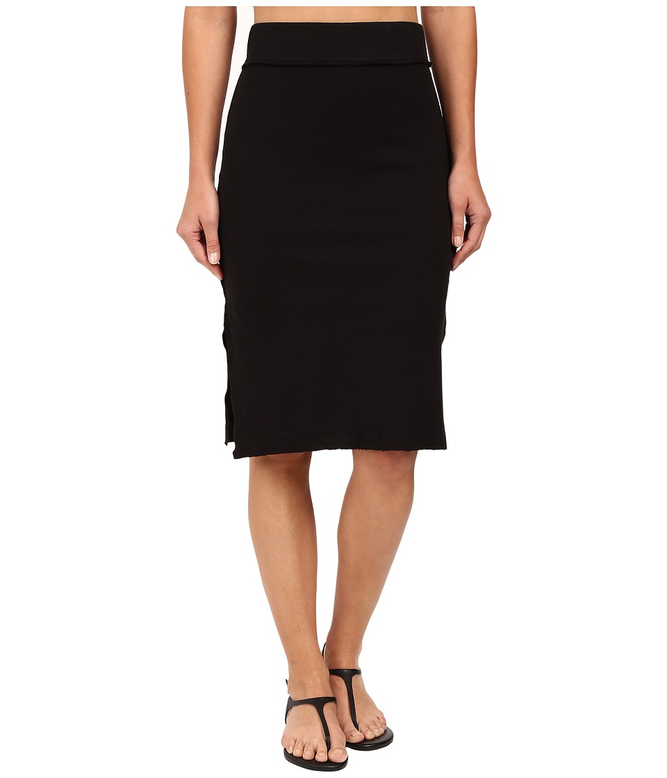 Splendid - 2x1 Midi Skirt (Black) Women
