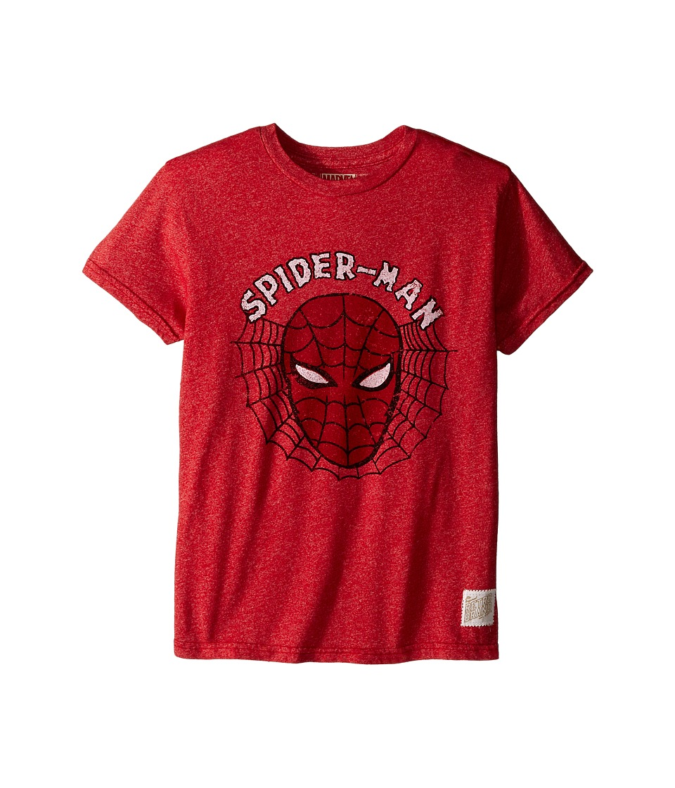 The Original Retro Brand Kids - Spiderman Mock Twist Short Sleeve Tee (Little Kids/Big Kids) (Mock Twist Red) Boy