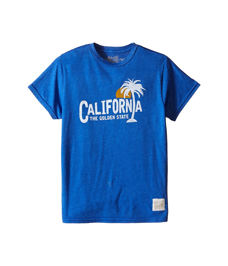 The Original Retro Brand Kids - Heathered California Short Sleeve Tee (Little Kids/Big Kids) (Heather Royal) Boy's Short Sleeve Pullover