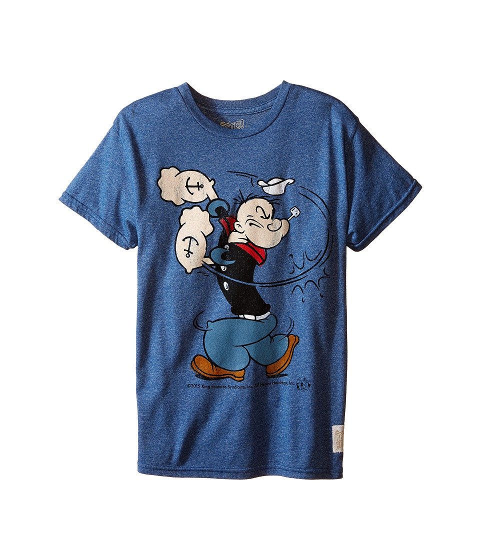 The Original Retro Brand Kids - Short Sleeve Mock Twist Popeye Tee (Little Kids/Big Kids) (Mock Twist Blue) Boy's T Shirt