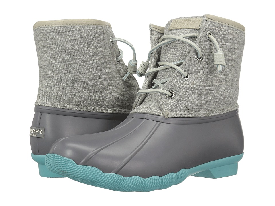 gray and teal sperry duck boots cheap