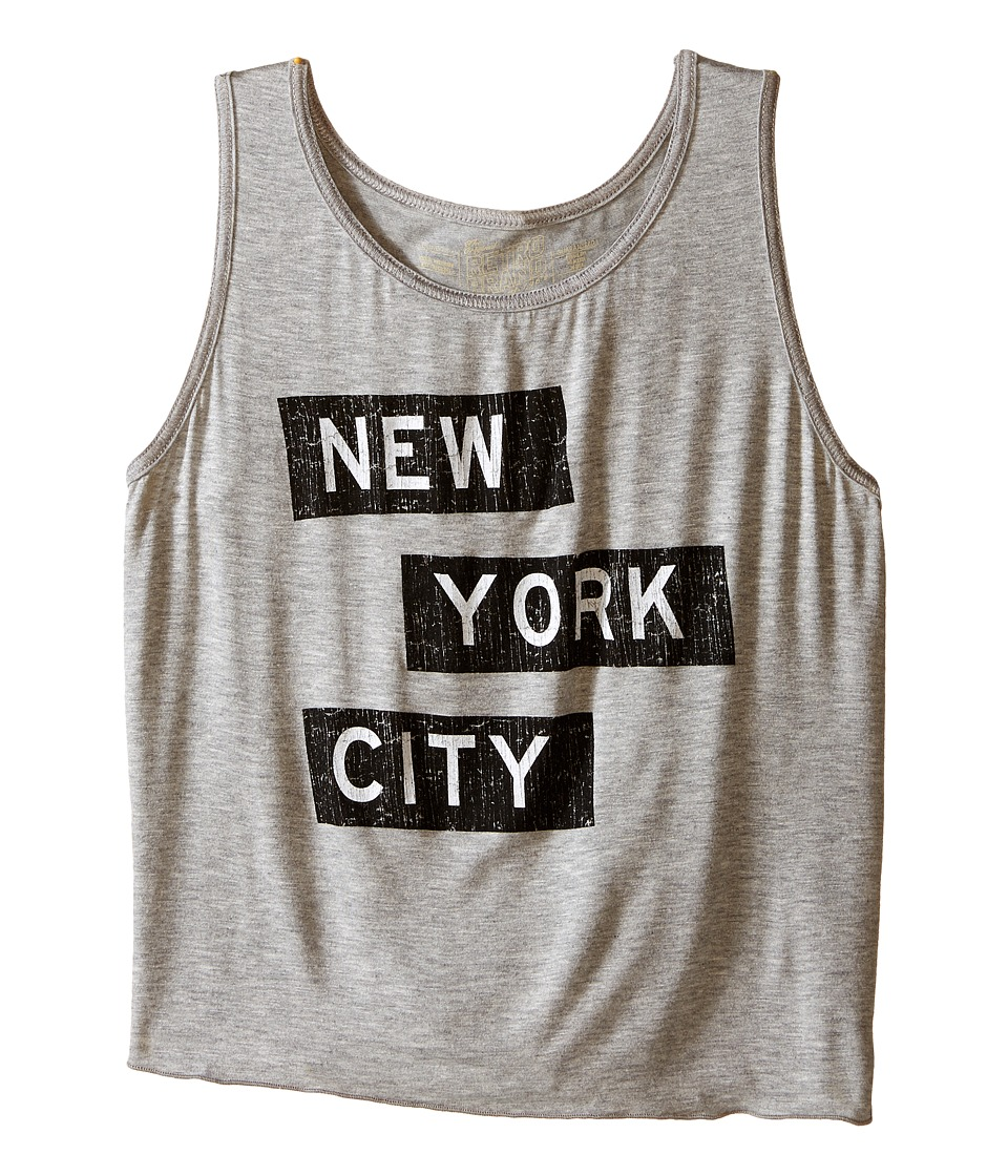 The Original Retro Brand Kids - New York City Tank Top (Little Kids/Big Kids) (Rayon Grey) Girl's Sleeveless