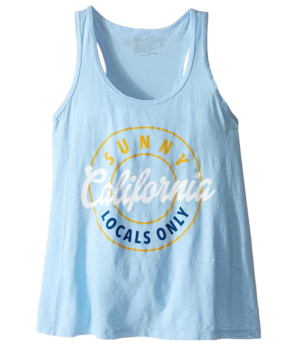 The Original Retro Brand Kids - Racerback California Tank Top (Little Kids/Big Kids) (Carolina Blue) Girl's Sleeveless