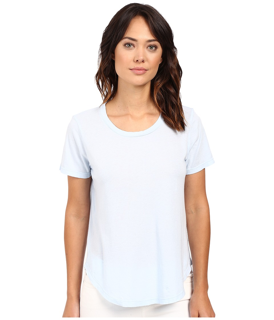 Splendid Modal Cotton Jersey Scoop Tee (Crystal Blue) Women