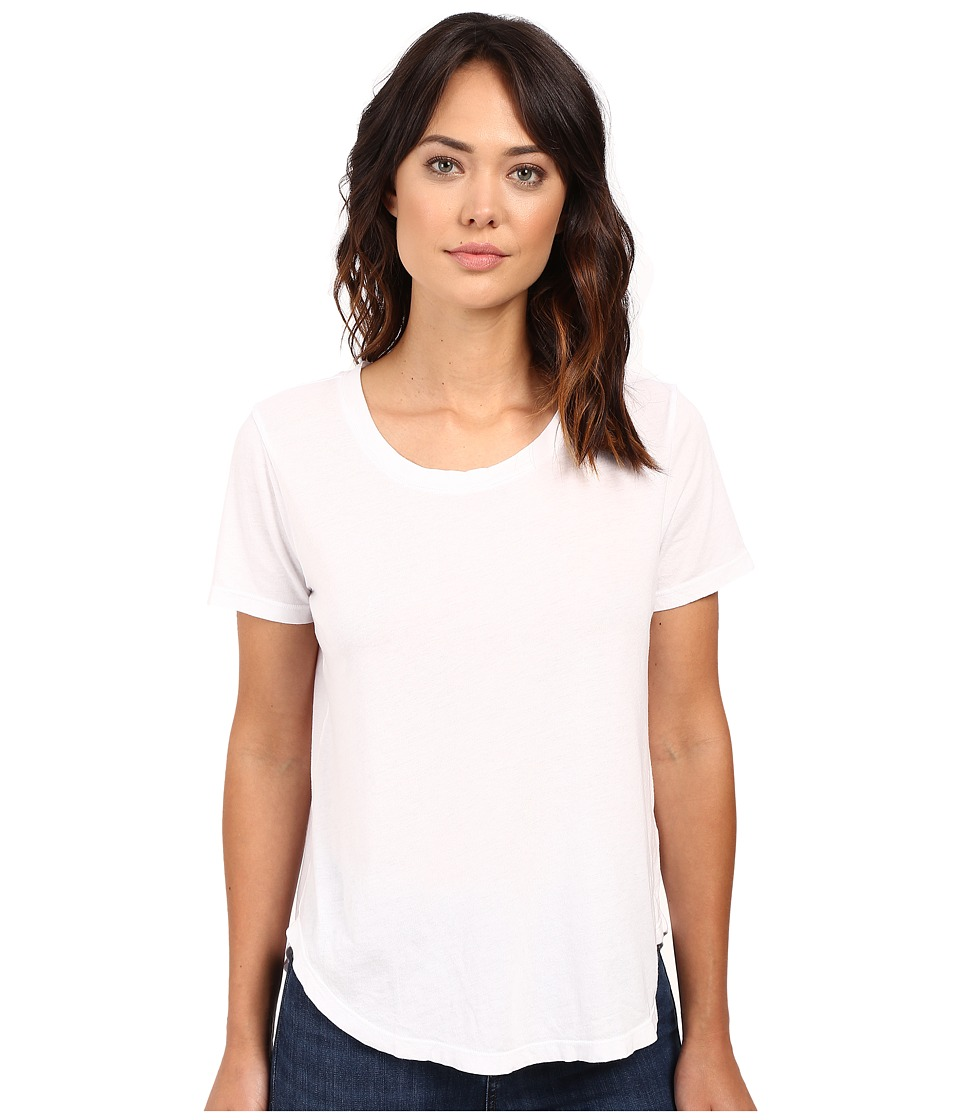 Splendid - Modal Cotton Jersey Scoop Tee (White) Women's T Shirt