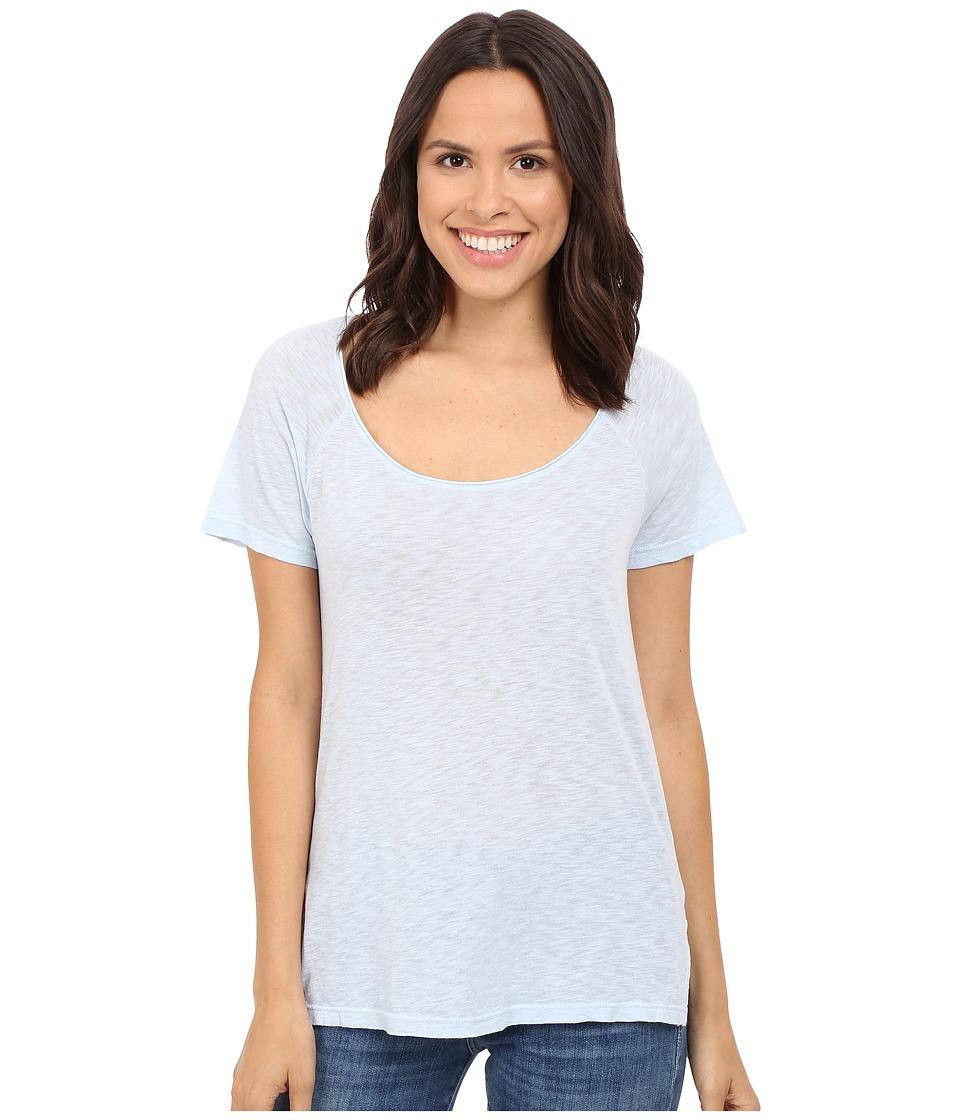 Splendid - Slub Jersey Raglan Tee (Crystal Blue) Women's T Shirt