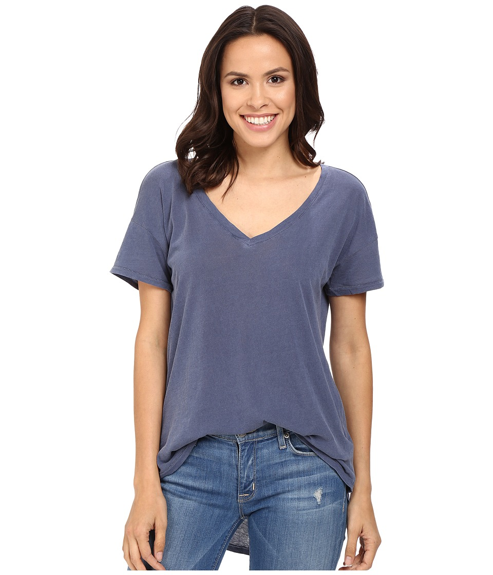 Splendid - Vintage Whisper V-Neck Tee (Vintage Academy Navy) Women's T Shirt
