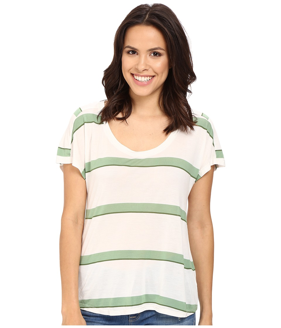Splendid - Yuma Stripe Tee (Sage) Women's T Shirt