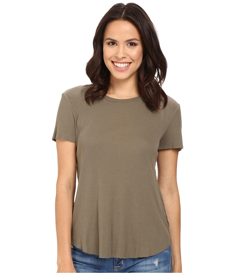 Splendid - 2x1 Fitted Tee (Military Olive) Women's T Shirt
