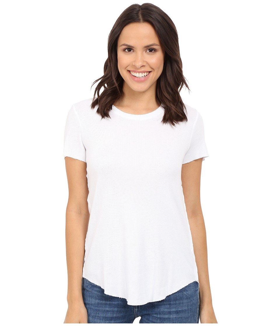 Splendid 2x1 Fitted Tee (White) Women