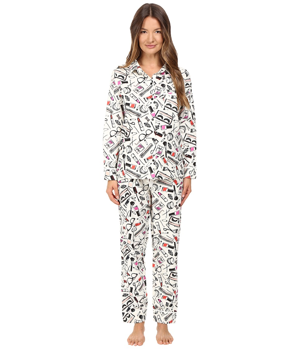 Kate Spade New York - Packaged Flannel Pajama Set (Cosmetics) Women's Pajama Sets