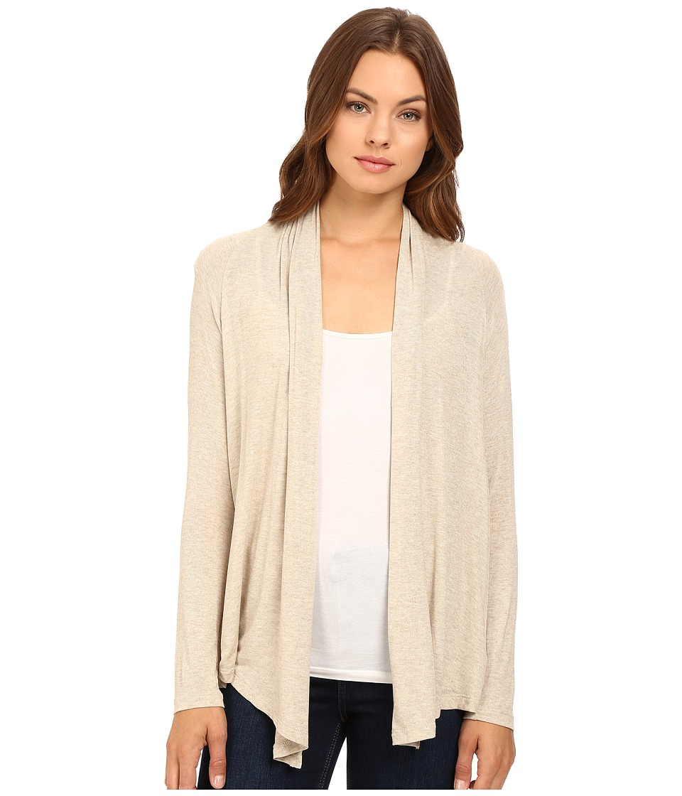 Splendid - Drapey Lux Twist Back Cardigan (Oatmeal) Women's Sweater