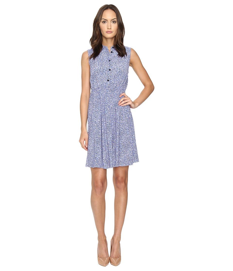 Kate Spade New York - Petals Sleeveless Shirtdress (Ensemble Blue) Women's Dress