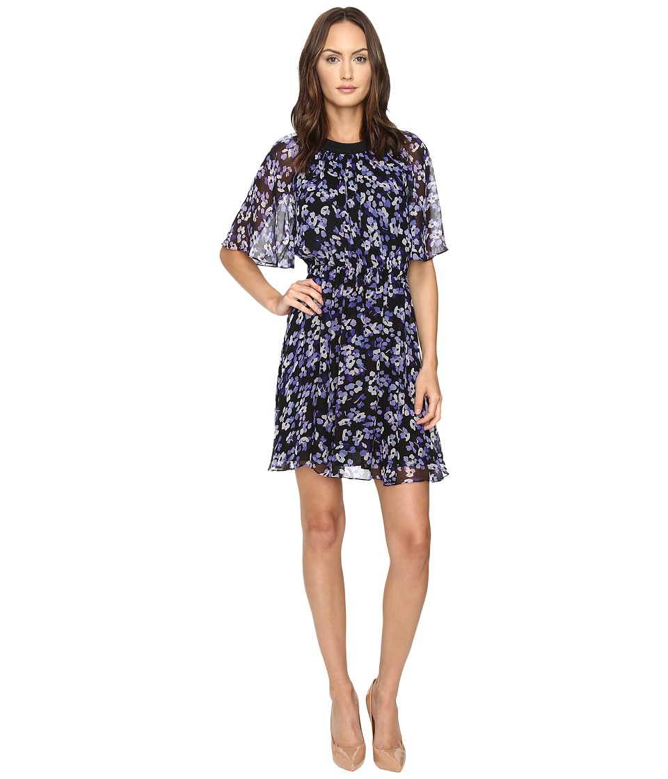 Kate Spade New York - Hydrangea Chiffon Dress (Black) Women's Dress