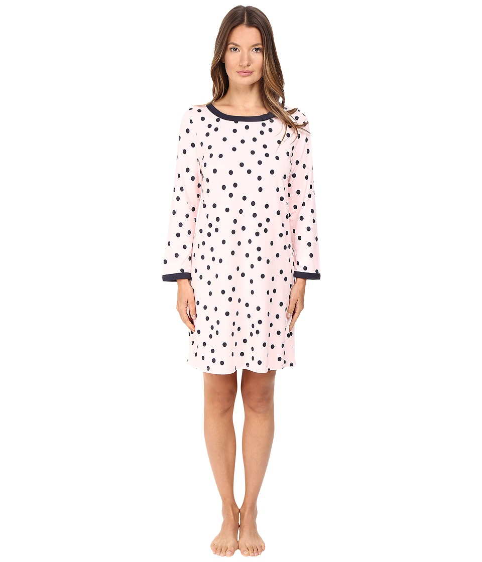 Kate Spade New York - Packaged Brushed Jersey Sleepshirt w/ Eyemask (Shadow Dot Pastry Pink) Women's Pajama