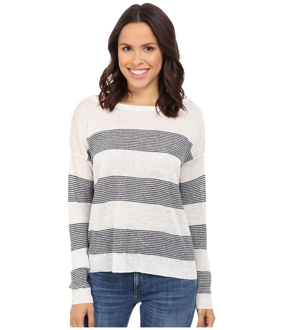 Splendid - Frontier Stripe Sweater (Natural/Navy) Women's Sweater