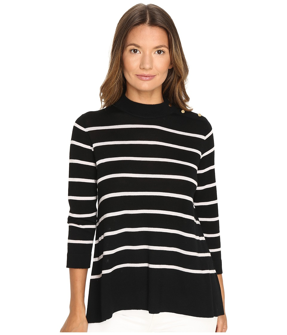 Kate Spade New York - Stripe Swing Sweater (Black) Women's Sweater