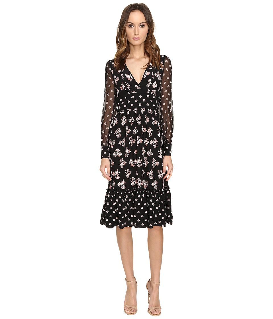 Kate Spade New York Mixed Ditzy Silk Dress (Black) Women