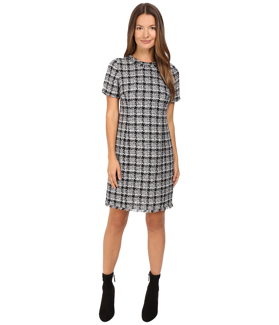 Kate Spade New York - Textured Tweed Sheath Dress (Black/Grey Multi) Women's Dress