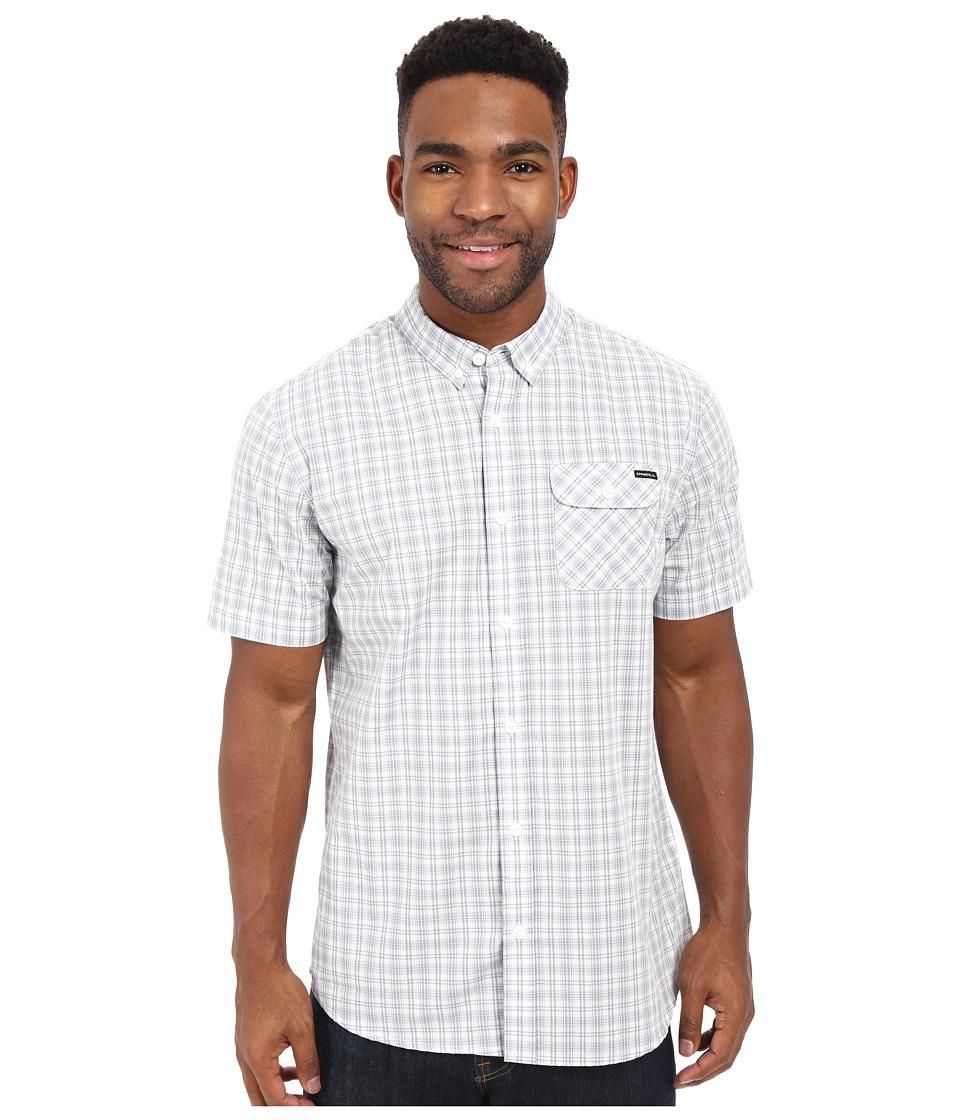 O'Neill - Emporium Check Short Sleeve Wovens (Steel) Men's Short Sleeve Button Up