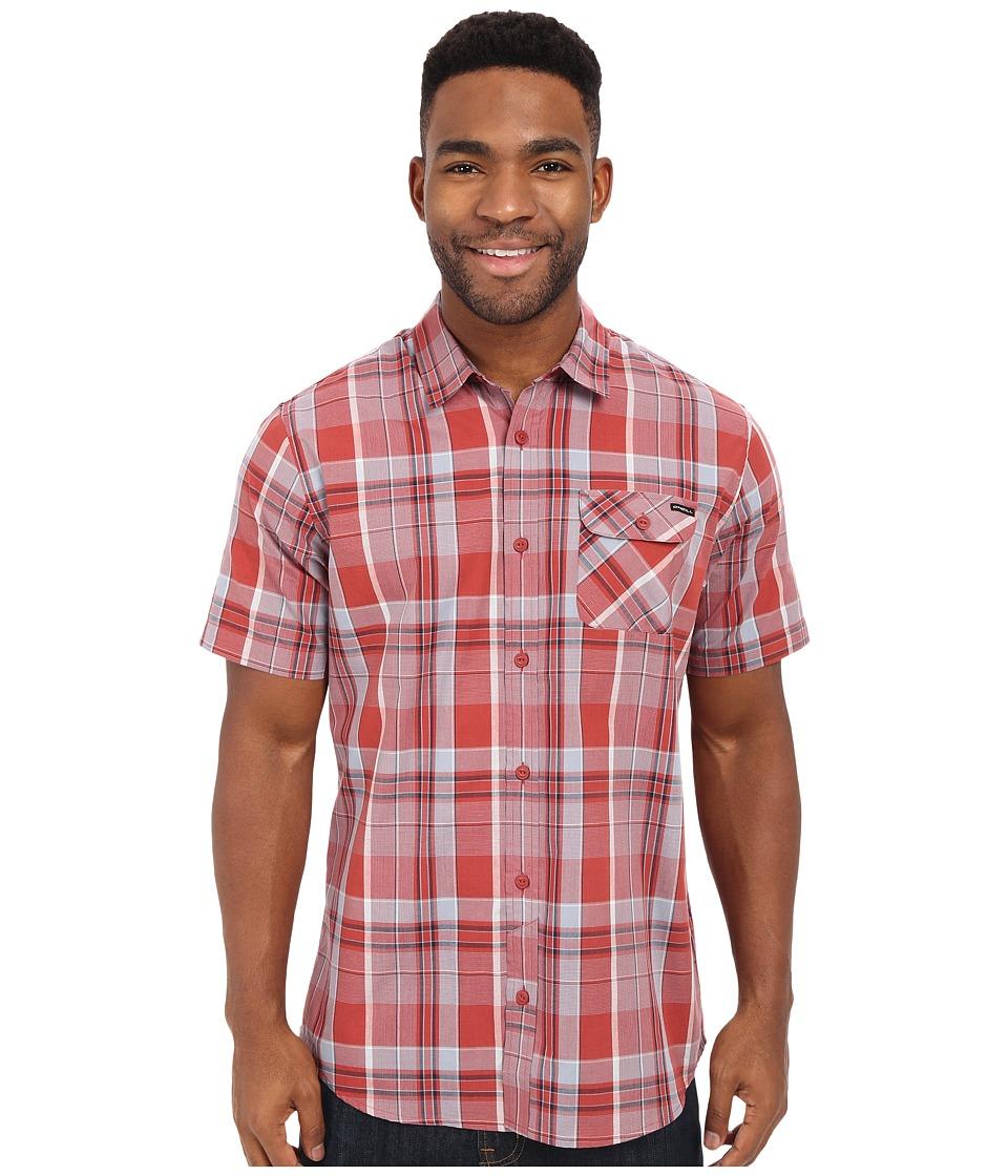 O'Neill - Emporium Plaid Short Sleeve Wovens (Spice) Men's Short Sleeve Button Up