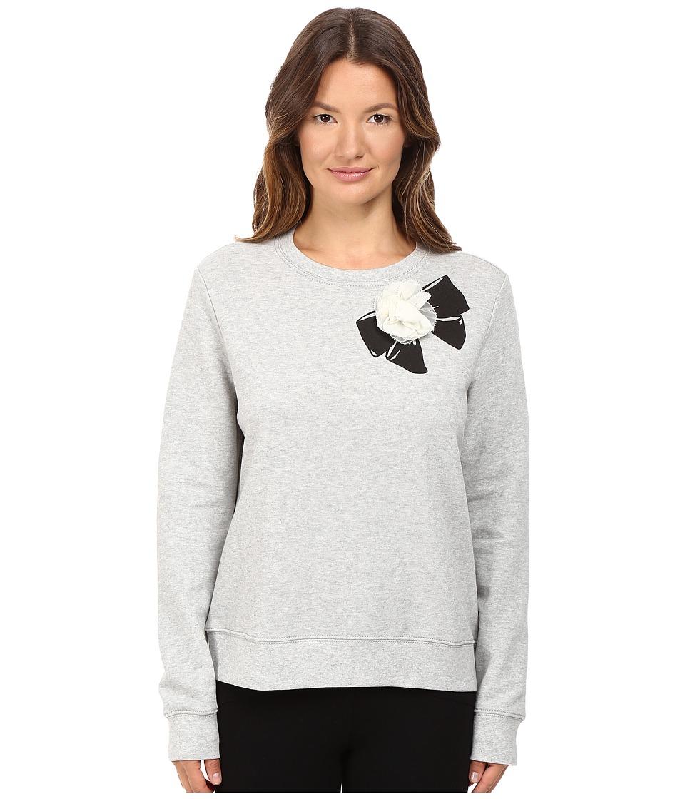 Kate Spade New York - Rosette Bow Sweatshirt (Classic Grey Melange) Women's Sweatshirt