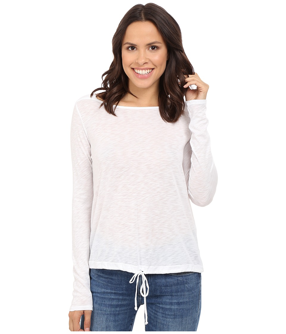Splendid - Slub Jersey Long Sleeve (White) Women's Clothing