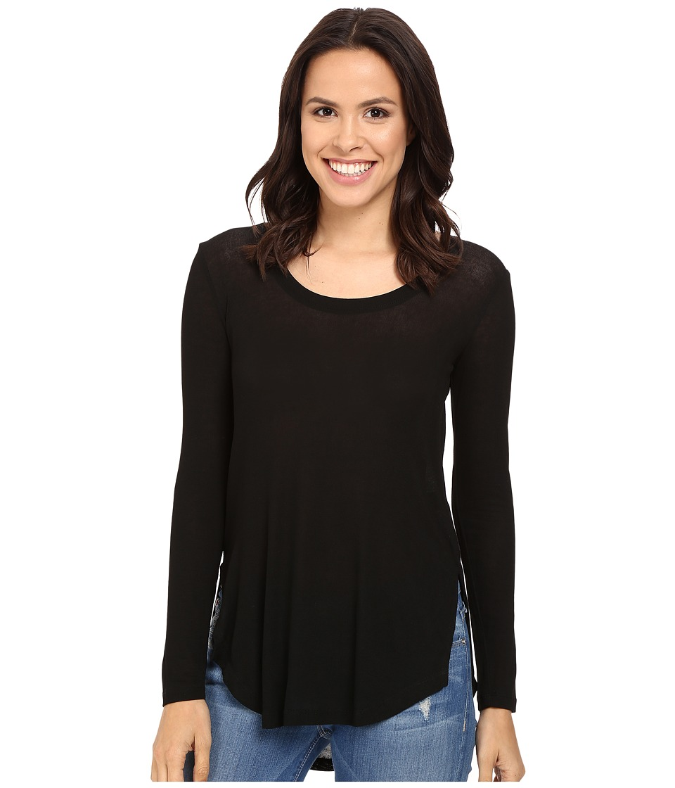 Splendid - Drapey Lux Long Sleeve (Black) Women's Clothing