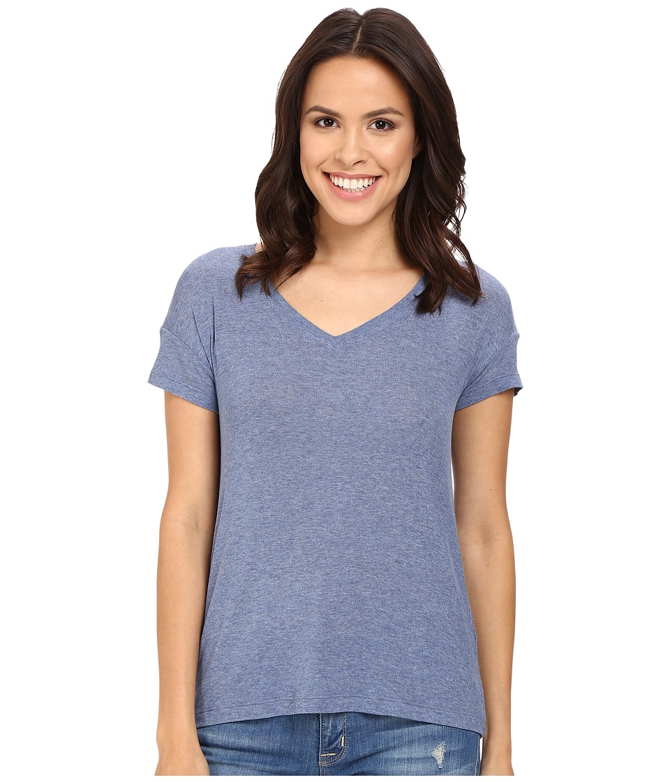 Splendid Drapey Lux V-Neck (Chambray) Women's Clothing