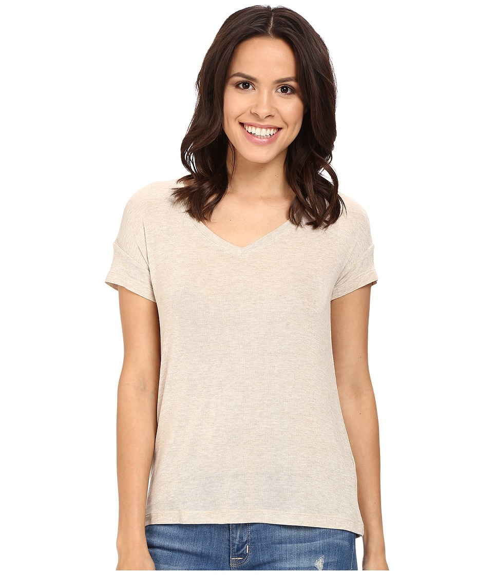 Splendid - Drapey Lux V-Neck (Oatmeal) Women's Clothing